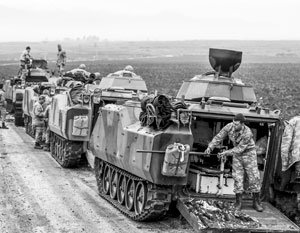 Турецкая армия на территории Сирии