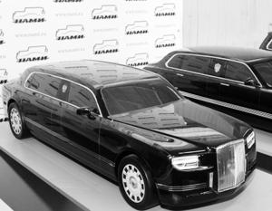 На фото: макет автомобилей, разработанных в рамках проекта «Кортеж»
