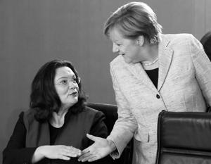 В качестве министра труда Андреа Налес несколько лет была подчиненной Ангелы Меркель, но теперь, став лидером социал-демократов, она может увести их в оппозицию
