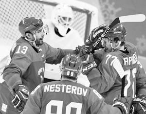 Российские хоккеисты на Олимпиаде разгромили команду Словении