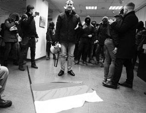 Москва направила Киеву ноту протеста из-за погрома в здании Россотрудничества