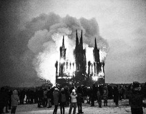 В РПЦ возмутились сожжением католического храма из веток на Масленицу