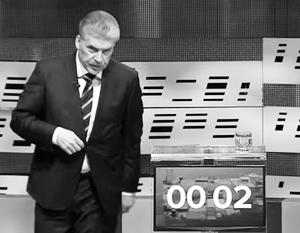 Бегство Грудинина с дебатов затмило ругань Жириновского и Собчак