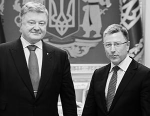 Президент Украины Петр Порошенко и путающий причину и следствие спецпредставитель США Курт Волкер