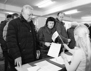 Желающие проголосовать выстроились в очереди на Дальнем Востоке