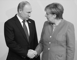Меркель поздравила Путина с победой