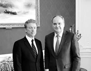 Антонов обсудил возобновление межпарламентского диалога с сенатором США