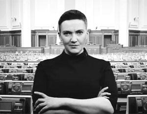 Кадр из видео «Савченко взрывает Верховную раду»