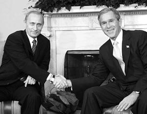 2001 год, Джордж Буш принимает Владимира Путина в Белом доме