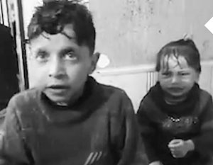 Пострадавшие от химической атаки дети – главный аргумент тех, кто обвиняет Асада