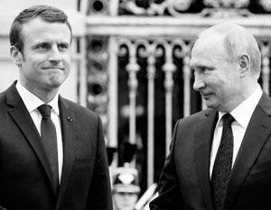 Для знакомства с Владимиром Путиным Эммануэль Макрон выбрал в прошлом году Версаль