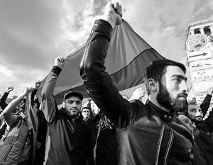 В Ереване возобновились акции протеста