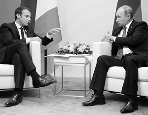 Макрон возразил Путину по поводу оснований для удара по Сирии