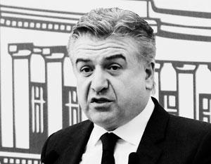 Назван врио премьера Армении