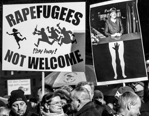 Антимигрантские митинги в ФРГ проходят на удивление сдержанно, в драку лезут обычно их противники – антифа