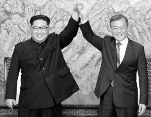 Эта встреча действительно радует Ким Чен Ына и Мун Чжэ Ина