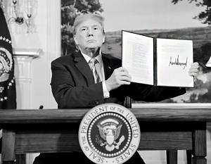 Трамп прилюдно подписал указ о возобновлении ранее замороженных карательных мер против Ирана
