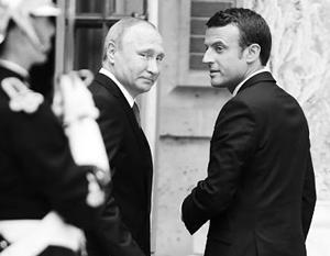 Впервые Эммануэль Макрон и Владимир Путин встретились год назад в Версале