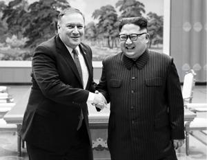 В прошлом месяце госсекретарь США Майкл Помпео уже второй раз в этом году встречался в Пхеньяне с Ким Чен Ыном