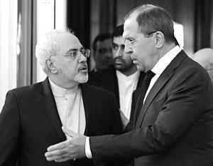 Глава МИД Ирана Мохаммад Джавад Зариф на встрече с Сергеем Лавровым в Москве. Ряд СМИ описывают ее как «холодную»