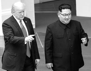 Трамп и Ким на встрече в Сингапуре