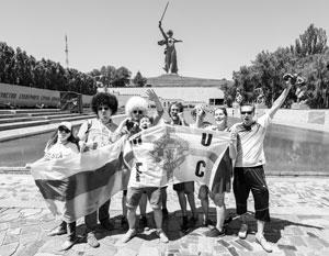 Английские болельщики в Волгограде