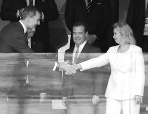 Король Испании Филипп VI с Дмитрием и Светланой Медведевыми