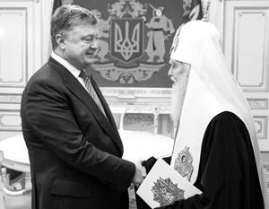 Президент Порошенко и «патриарх» Денисенко