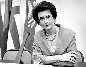 Спикер грузинского парламента Нино Бурджанадзе