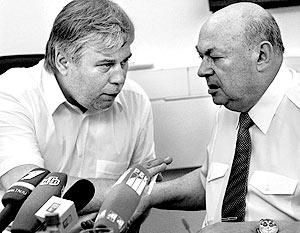 Адвокат Анатолий Кучерена и первый заместитель председателя правительства Москвы Владимир Ресин