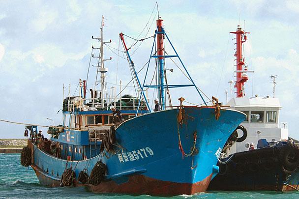 китайский рыболовных суден