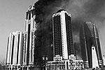 Пожар произошел в башне «Олимп» комплекса «Грозный-Сити» в столице Чечни. Башня является самым высоким жилым зданием в России за пределами Москвы. А на 27-м этаже соседнего здания находится квартира, полученная Жераром Депардье в подарок от Рамзана Кадырова