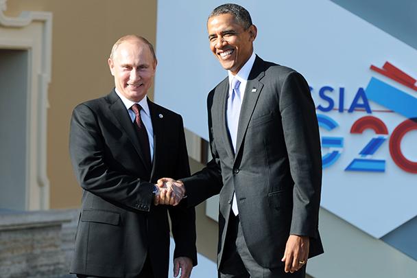 Путин и обама обменялись крепким