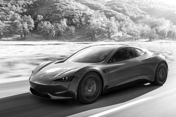 Илон Маск презентовал полноприводный спортивный автомобиль Tesla Roadster и электрический тягач Tesla Semi. Максимальная скорость спорткара – 400 км в час, на одной зарядке он может проехать до 1 тыс. км. Первые 1000 автомобилей будут стоить 250 тыс. долларов