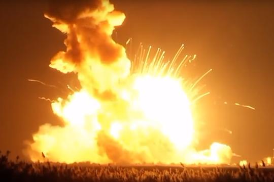 НАСА: Причиной аварии ракеты Antares стал взрыв модифицированного Украиной двигателя
