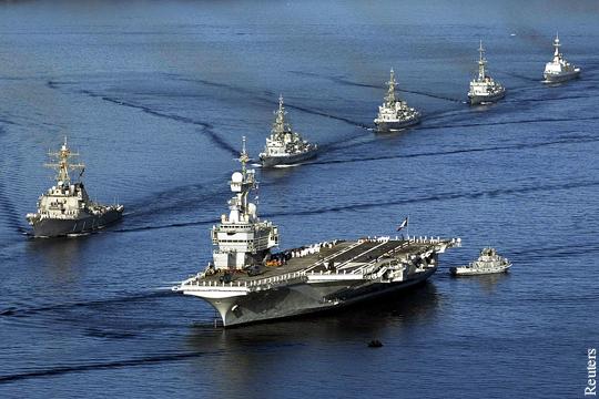 ВМФ России обеспечит боевое прикрытие авианосной группировки ВМС Франции