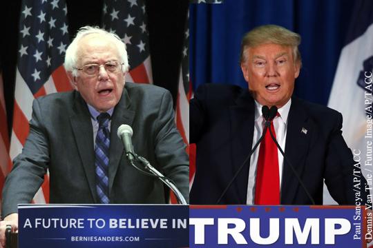 Америка хочет выбирать между социалистом и миллиардером
