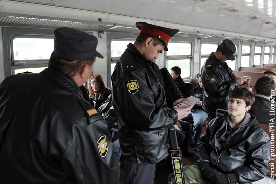 Проезд в электричках работникам транспортной полиции такая