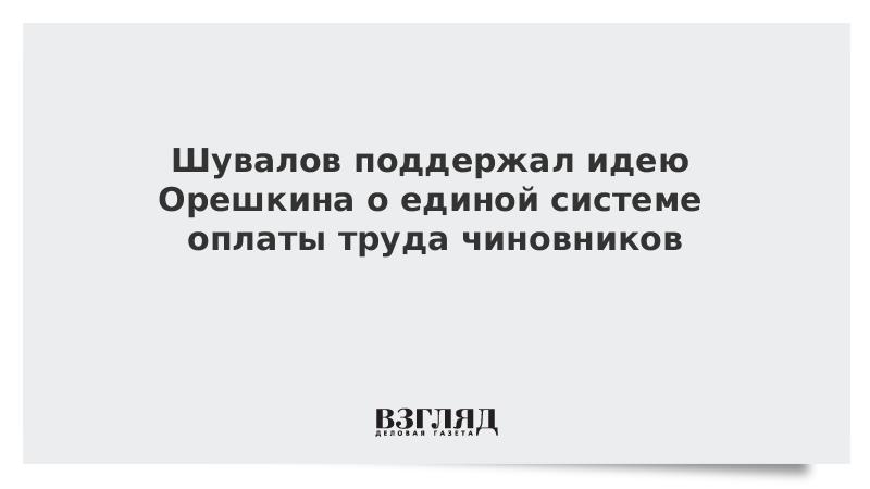 Шувалов поддержал идею Орешкина о единой системе оплаты труда чиновников