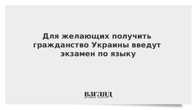 Для желающих получить гражданство Украины введут экзамен по языку