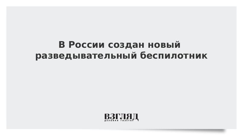 В России создан новый разведывательный беспилотник