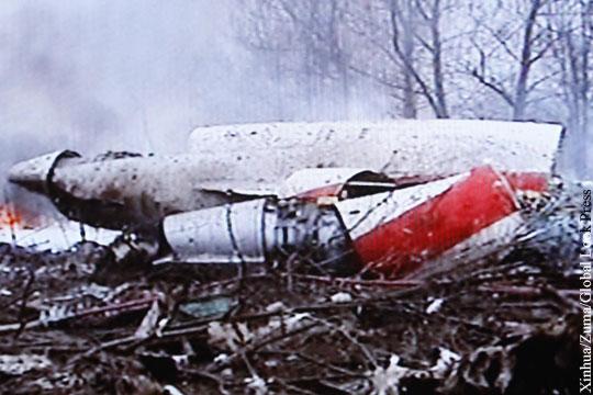 Польша «нашла» следы взрывчатки на обломках самолета Качиньского