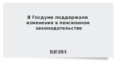 В Госдуме поддержали изменения в пенсионном законодательстве