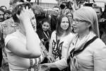 Поприветствовать Савченко приехала Юлия Тимошенко – главный борец за ее статус на Украине. Именно с ее подачи Савченко стала членом делегации ПАСЕ и депутатом Рады от партии «Батькивщина»(фото: Gleb Garanich/Reuters)