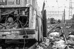 Машинист поезда не пострадал, незначительно повреждена кабина(фото: МЧС России/ТАСС)
