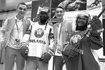 Гости из Африки примерили хоккейную форму белорусов(фото: Кирилл Кухмарь/фотохост-агентство ТАСС)