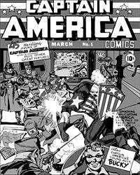 Схватка с Гитлером. Первое появление Капитана Америки на обложке Captain America Comics № 1