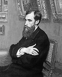 Павел Михайлович Третьяков, портрет работы Ильи Репина