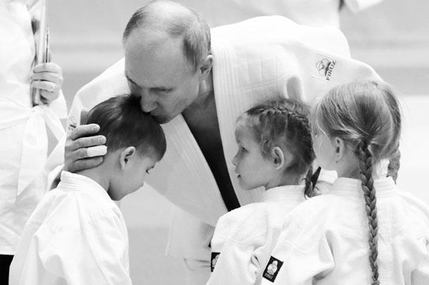 Юные спортсмены поприветствовали президента России