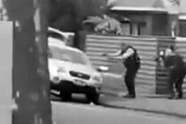 Момент задержания одного из подозреваемых в теракте попал на видео